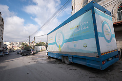 26 February 2020, Abu Dis, Palestine: In an effort to make Diabetes services more accessible to people in the West Bank, the Augusta Victoria Hospital offers a Mobile Diabetes Clinic, which moves around to various locations in the West Bank, offering screening and routine testing for Diabietes and the symptoms it causes.