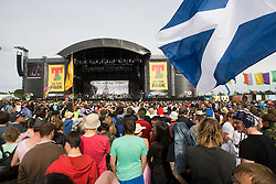 View of the fans at the Counting Crows on the main stage on Sunday, T in the Park, 12th July 2008..T in the Park 2008 festival took place on the Friday 10th July, Saturday 11th July and Sunday 12th July, at Balado, near Kinross in Perth and Kinross, Scotland..Pic ©Michael Schofield. All Rights Reserved..