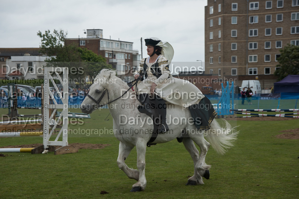 ANGIE NETTLE, Bexhill Horse show. Polegrove, Bexhill on Sea. 29 May 2016