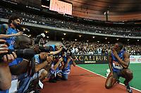 ATHLETICS - MEETING AREVA 2011 - STADE DE FRANCE / PARIS (FRA) - 08/07/2011 - PHOTO : STEPHANE KEMPINAIRE / DPPI - <br /> 200 M - MEN - WINNER - USAIN BOLT (JAM)
