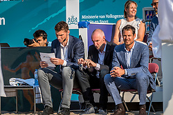 15-07-2018 NED: CEV DELA Beach Volleyball European Championship day 1<br /> Start of the DELA EC Beach Volleyball 2018 / Bas van de Goor, Richard Schuil, Reinder Nummerdor
