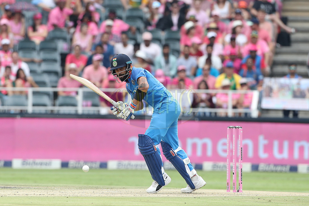 Virat Kohli (captain) of India during the 4th One Day International match between South Africa and India held at the Wanderers Cricket Ground in Johannesburg, South Africa on the 10th February 2018<br /> <br /> Photo by: Ron Gaunt / BCCI / SPORTZPICS