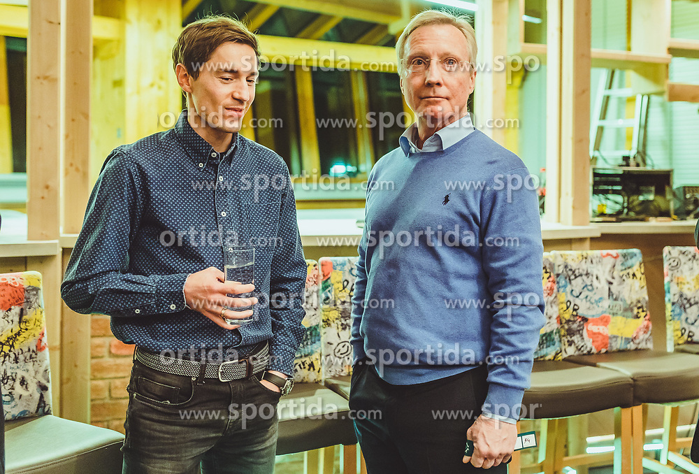 23.10.2018, Olympia Kongress Zentrum, Seefeld, AUT, Forum Nordicum 2018, im Bild v.l.: Kamil Stoch (POL), Walter Hofer (FIS Skisprung Renndirektor) // f.l.: Kamil Stoch of Poland and FIS Ski Jumping Race Director Walter Hofer during the Forum Nordicum 2018 at the Olympic Congress Center in Seefeld, Austria on 2018/10/23. EXPA Pictures © 2018, PhotoCredit: EXPA/ JFK