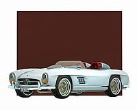 When you imagine a name like Mercedes, what are some of the visuals that come to mind? Do you imagine the open road? Can you see yourself in this iconic roadster, speeding off to some grand destination? This digital painting brings all of those feelings back to the forefront of your dreams. .<br /> <br /> BUY THIS PRINT AT<br /> <br /> FINE ART AMERICA<br /> ENGLISH<br /> https://janke.pixels.com/featured/mercedes-300sl-daytona-concept-roadster-jan-keteleer.html<br /> <br /> WADM / OH MY PRINTS<br /> DUTCH / FRENCH / GERMAN<br /> https://www.werkaandemuur.nl/nl/shopwerk/Klassieke-auto---Oldtimer-Mercedes-300SL-Daytona-concept-roadster/435302/134