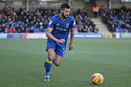 AFC Wimbledon defender George Francomb (7) dribbling during the EFL Sky Bet League 1 match between AFC Wimbledon and Bristol Rovers at the Cherry Red Records Stadium, Kingston, England on 17 February 2018. Picture by Matthew Redman.