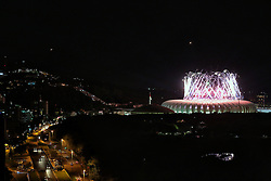 Vista geral da Festa Gigante - Reinauguração do Beira-Rio, neste sábado 05 de abril de 2014.  O estádio Beira Rio receberá os jogos da Copa do Mundo de Futebol 2014. FOTO: Marcos Nagelstein/ Agência Preview