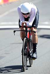 New Zealand's Hamish Bond in action during the Men's Individual Time Trial at Currumbin Beachfront on day six of the 2018 Commonwealth Games in the Gold Coast, Australia.