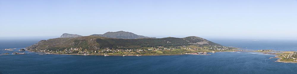 Sammensett Panorama tatt fra Hornseten.