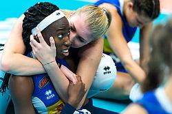 19-10-2018 JPN: Semi Final World Championship Volleyball Women day 18, Yokohama<br /> China - Netherlands / Paola Ogechi Egonu #18 of Italy, Sarah Luisa Fahr #13 of Italy