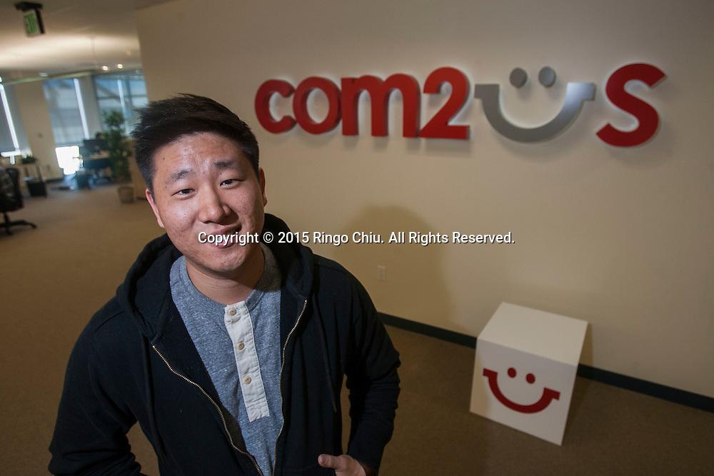 Casey Lee, Head of Com2us USA, Inc. <br /> (Photo by Ringo Chiu/PHOTOFORMULA.com)