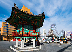View of Korean pavilion in Potsdamer Platz , Berlin, Germany