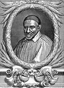 St Vincent de Paul (c1581-1660) French priest and philanthropist: Franciscan. Patron saint of charitable societies. Engraving 1663.