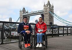 Daniel Romanchuk and Manuela Schar during the photocall outside Tower Bridge, London.