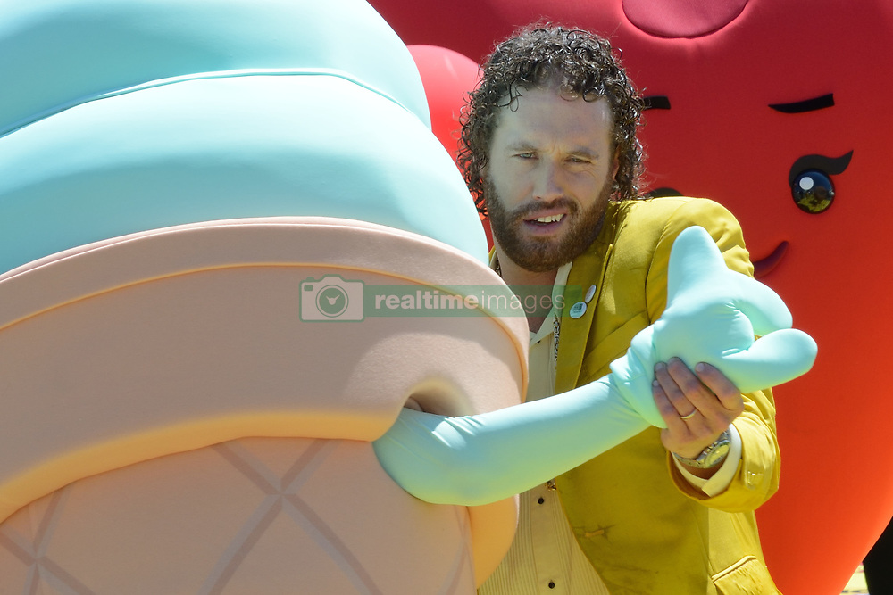 TJ Miller attending the Emoji Movie photocall at the Carlton beach in Cannes, France on May 16, 2017. Photo by Aurore Marechal/ABACAPRESS.COM