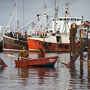 Mallaig Boatyard. Preparing the cradle to take the next vessel.  Picture Robert Perry 9th April 2016<br /> <br /> Must credit photo to Robert Perry<br /> FEE PAYABLE FOR REPRO USE<br /> FEE PAYABLE FOR ALL INTERNET USE<br /> www.robertperry.co.uk<br /> NB -This image is not to be distributed without the prior consent of the copyright holder.<br /> in using this image you agree to abide by terms and conditions as stated in this caption.<br /> All monies payable to Robert Perry<br /> <br /> (PLEASE DO NOT REMOVE THIS CAPTION)<br /> This image is intended for Editorial use (e.g. news). Any commercial or promotional use requires additional clearance. <br /> Copyright 2014 All rights protected.<br /> first use only<br /> contact details<br /> Robert Perry     <br /> 07702 631 477<br /> robertperryphotos@gmail.com<br /> no internet usage without prior consent.         <br /> Robert Perry reserves the right to pursue unauthorised use of this image . If you violate my intellectual property you may be liable for  damages, loss of income, and profits you derive from the use of this image.