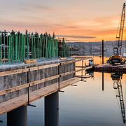 Raft Island Bridge project built by Quigg Bros Construction of Aberdeen, WA
