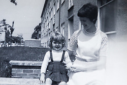 Toni with her daughter Josephine in the 1960s. Eighty-year-old great grandmother Toni Goldenberg save up her pennies to pay for a facelift in February 2019, giving her extra confidence and a look to match her youthful approach to life. Wallington, Surrey, March 28 2019.
