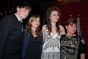 DAUGHTER BESSIE; IMELDA STAUNTON, Party after the press night opening of 'Sweeney Todd: The Demon Barber of Fleet Street' at Adelphi Theatre, London. Floridita. Wardour St. 20 March 2012.