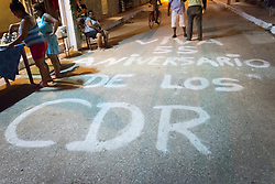 27 September 2015, Trinidad, Cuba: People mark the 55th anniversary of the CDR, the Committee for the Defense of the Revolution, in Cuba.