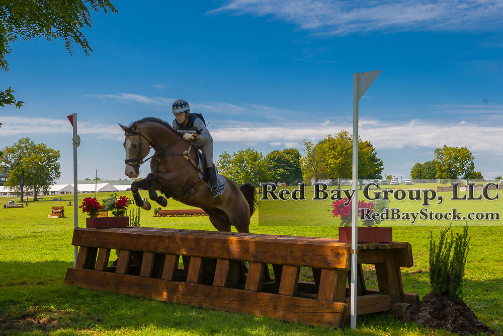 Mary Millhiser and My Box Tex at the USEA American Eventing Championships in Lexington, Kentucky.