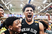 Mokan Elite celebrates during the 2019 Nike Peach Jam Finals in Augusta, Georgia.(Photo by Johnnie Izquierdo/NIKE)