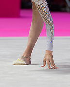 Nicol Ruprecht from Austria performs at ball during the Pesaro 2021 World Cup.