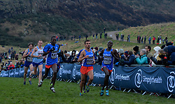 Competitors in action during the fourth lap of the Simplyhealth Great Edinburgh XCountry Men's 8k race during the Great Edinburgh International XCountry 2018 in Holyrood Park, Edinburgh. PRESS ASSOCIATION Photo. Picture date: Saturday January 13, 2018. Photo credit should read: Mark Runnacles/PA Wire.