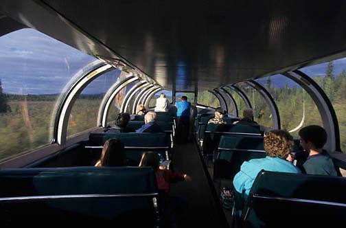 Denali National Park, McKinley Explorer train. Alaska.