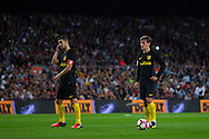 Antoine Griezmann ready for kick the ball during the La Liga match between Barcelona and Atletico Madrid at Camp Nou, Barcelona, Spain on 21 September 2016. Photo by Eric Alonso.
