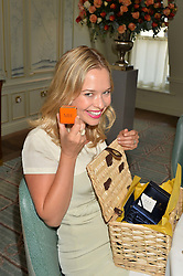 MARISSA HERMER at a breakfast hosted by Halcyon Days at Fortnum & Mason, 181 Piccadilly, London on 8th July 2014.