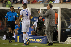 July 19, 2017 - Philadelphia, Pennsylvania, U.S - USA head coach BRUCE ARENA yells at the ref about a call during CONCACAF Gold Cup 2017 quarterfinal action at Lincoln Financial Field in Philadelphia, PA.  USA  defeats El Salvador 2 to 0. (Credit Image: © Mark Smith via ZUMA Wire)