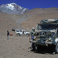 An expedition led by archaeologist Dr. Johan Reinhard establishes a base camp below 22,110-foot Volcan Llullaillaco in northern Argentina, where the team later found the world's highest mummies from an ancient Inca sacrifice.