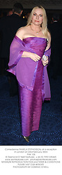 Comedienne PAMELA STEPHENSON, at a reception in London on 23rd February 2003.<br />