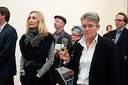 ALLEGRA HICKS; NIKKI BELL, Richard Wilson Vertu Global Art Commission. Saatchi Gallery. Duke of York's HQ. London. 13 April 2011. -DO NOT ARCHIVE-© Copyright Photograph by Dafydd Jones. 248 Clapham Rd. London SW9 0PZ. Tel 0207 820 0771. www.dafjones.com.