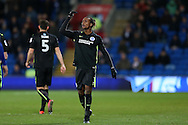 Gaetan Bong of Brighton & Hove Albion looks on. EFL Skybet championship match, Cardiff city v Brighton & Hove Albion at the Cardiff city stadium in Cardiff, South Wales on Saturday 3rd December 2016.<br /> pic by Andrew Orchard, Andrew Orchard sports photography.