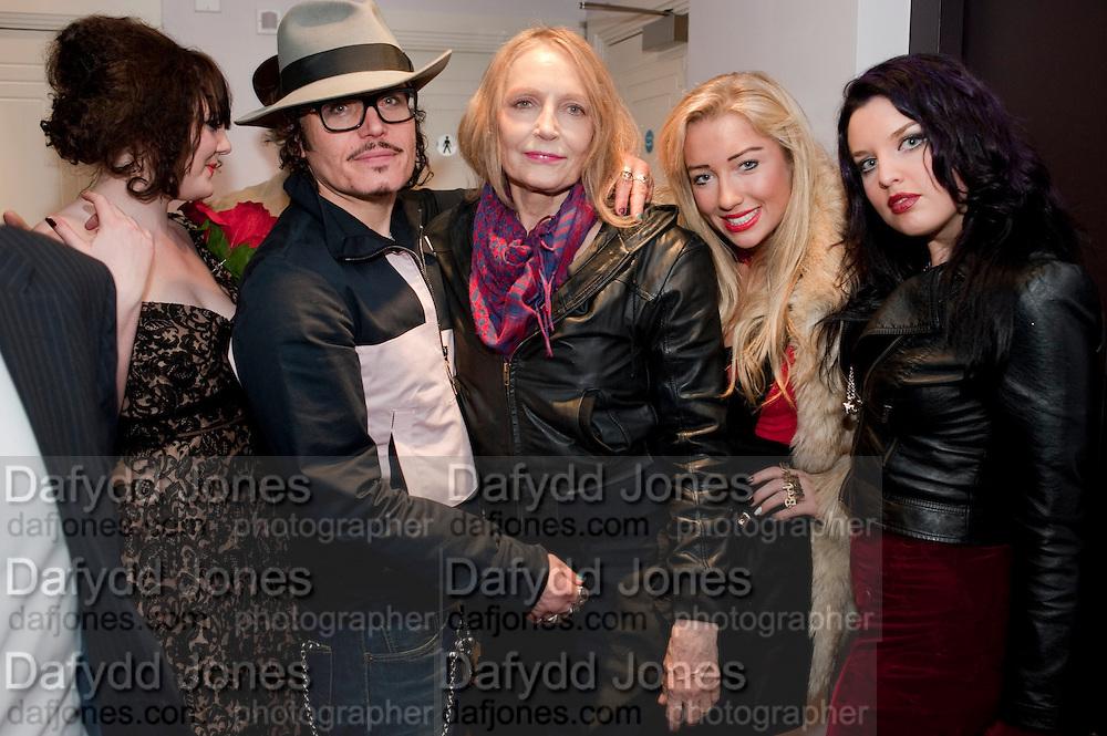 ROBERT PERENO; DAISY TALLULAH; ADAM ANT; JENNY RUNACRE; TWINKLE ; GEORGINA BAILEY; , Showing of Jubilee. Society film club, Sanctum Soho Hotel. celebrating Robert PerenoÕs birthday and the official launch of The Society Film Club on the Rooftop bar of the Sanctum. -DO NOT ARCHIVE-© Copyright Photograph by Dafydd Jones. 248 Clapham Rd. London SW9 0PZ. Tel 0207 820 0771. www.dafjones.com.<br /> ROBERT PERENO; DAISY TALLULAH; ADAM ANT; JENNY RUNACRE; TWINKLE ; GEORGINA BAILEY; , Showing of Jubilee. Society film club, Sanctum Soho Hotel. celebrating Robert Pereno's birthday and the official launch of The Society Film Club on the Rooftop bar of the Sanctum. -DO NOT ARCHIVE-© Copyright Photograph by Dafydd Jones. 248 Clapham Rd. London SW9 0PZ. Tel 0207 820 0771. www.dafjones.com.