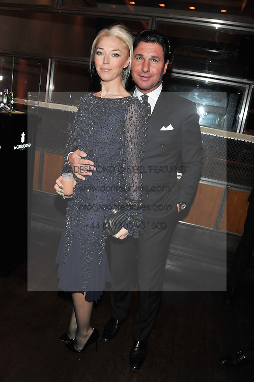 GIORGIO VERONI & TAMARA BECKWITH at a dinner hosted by de Grisogono at 17 Berkeley Street, London on 12th November 2012.