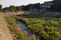 Dry stream bed during Texas drought at Lakeway, Texas