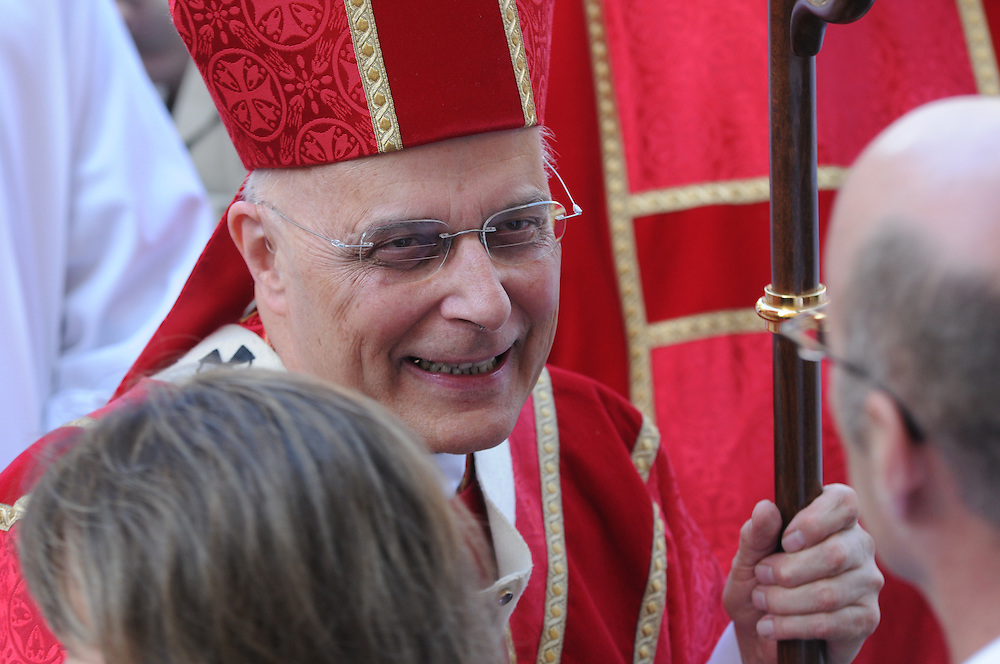 Francis Cardinal George greet parishioners outside of Holy Name Cathedral following the Catholic Lawyers Guild Annual Red Mass.