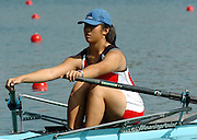 2004_Junior_Non_Olympics_Worlds_Lake Banyoles_Spain.28.07.2004 Wednesday. Photo  Peter Spurrier .email images@intersport-images.com.Tel +44 7973 819 551. KOR JW1X Shu Ying Ong. Rowing Course: Lake Banyoles, SPAIN . [Mandatory Credit: Peter Spurrier: Intersport Images].