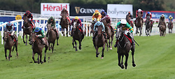 Front View ridden by Derek O'Connor wins The Sanctuary Synthetics Flat Race during day one of the Punchestown Festival at Punchestown Racecourse, County Kildare, Ireland.