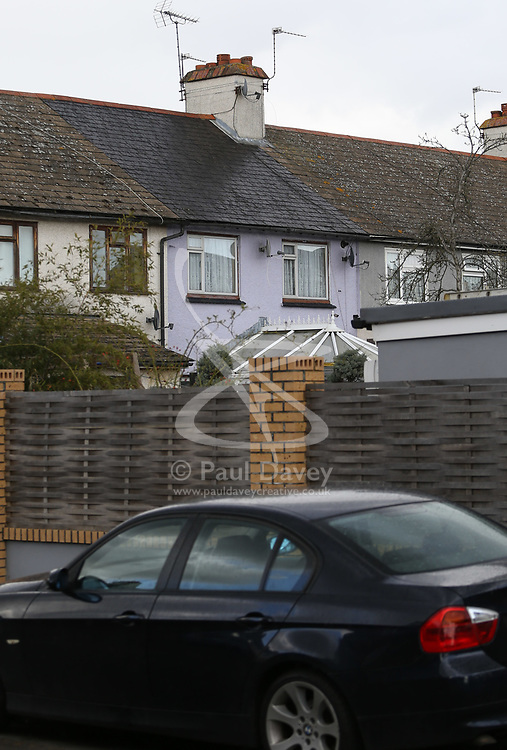 A rear view of the Sunbury, west London home of Ron and Penny Jones, foster parents of the Parsons Green tube bomber Ahmed Hassan. PLACE, March 16 2018.