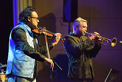 Deepak Pandit & Marcus Wyatt.  Cape Town International Jazz Festival 2017. Photo by Alec Smith/imagemundi.com