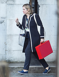 © Licensed to London News Pictures. 11/04/2019. London, UK. Secretary of State for Work and Pensions Amber Rudd is seen in Parliament. The EU has agreed a further Brexit delay until October 31st. Photo credit: Peter Macdiarmid/LNP