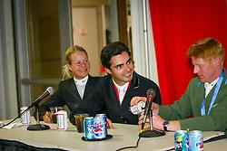 Markus Ehning, Pessoa Rodrigo, Malin Bayard<br /> World Cup Final Jumping - Las Vegas 2003<br /> © Hippo Foto - Dirk Caremans