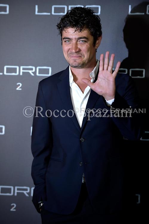 Italian actor Riccardo Scamarcio attends Movie  'Loro 2' photocall on May 2, 2018 in Rome, Italy.