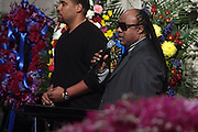 6 January 2010- New York NY- l to r: Stevie Wonder at the Percy E. Sutton's Funeral held at The Riverside Church on January 6, 2010 in New York City. Photo Credit: Terrence Jennings/Sipa