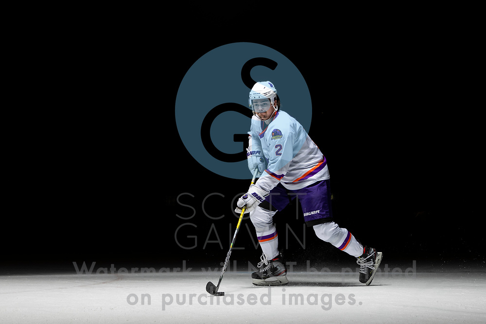 Youngstown Phantoms player photo shoot on April 14, 2021. <br /> <br /> Mike Brown, defenseman, 2