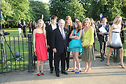 Lord and Lady Palumbo and family. Petra in pink. The Summer Party in association with Swarovski. Co-Chairs: Zaha Hadid and Dennis Hopper, Serpentine Gallery. London. 11 July 2007. <br /> -DO NOT ARCHIVE-© Copyright Photograph by Dafydd Jones. 248 Clapham Rd. London SW9 0PZ. Tel 0207 820 0771. www.dafjones.com.