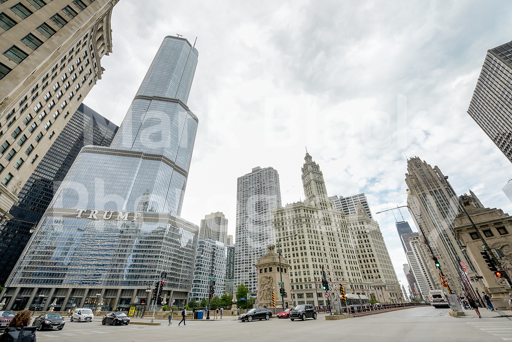 Trump Tower and the Wrigley Building in Chicago, Illinois. Photo by Mark Black